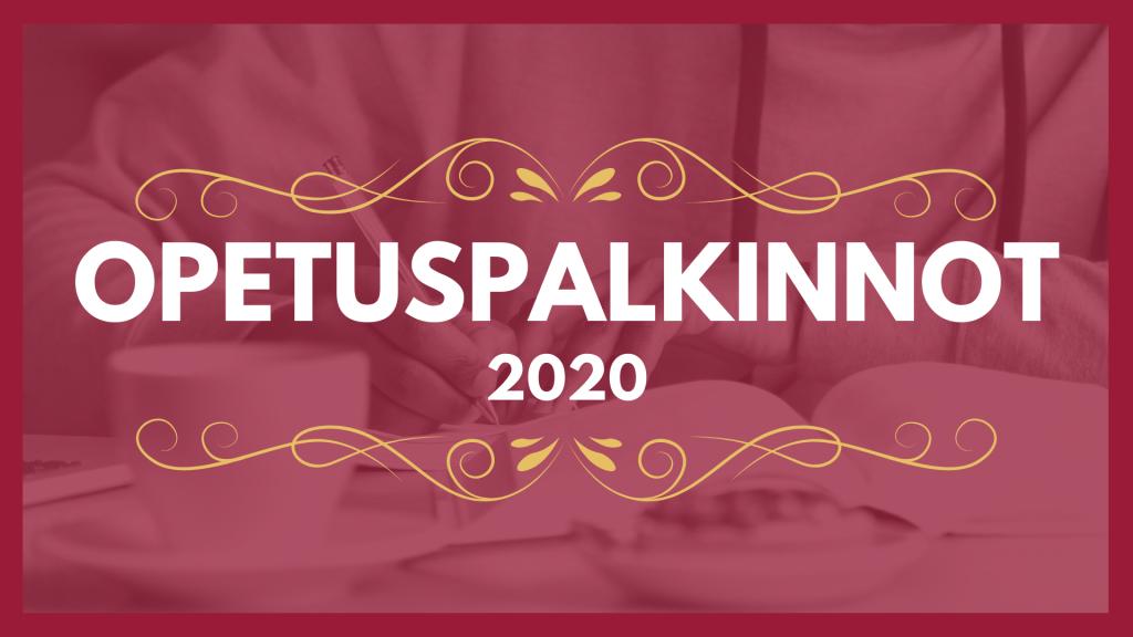 opetuspalkinnot 2020